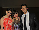 """Prospect Park's All My Children's Denyse Tontz """"Miranda Montgomery"""" (C) poses with Jordan Lane Price """"Celia Fitzgerald"""" and Robert Scott Wilson """"Pete Cortlandt""""  at New York Premiere Event for beloved series """"All My Children"""" on April 23, 2013 at NYU Skirball, New York City, New York  as The Online Network (TOLN) - AMC - OLTL  begin airing on April 29, 2013 on Hulu, Hulu Plus. (Photo by Sue Coflin/Max Photos)"""