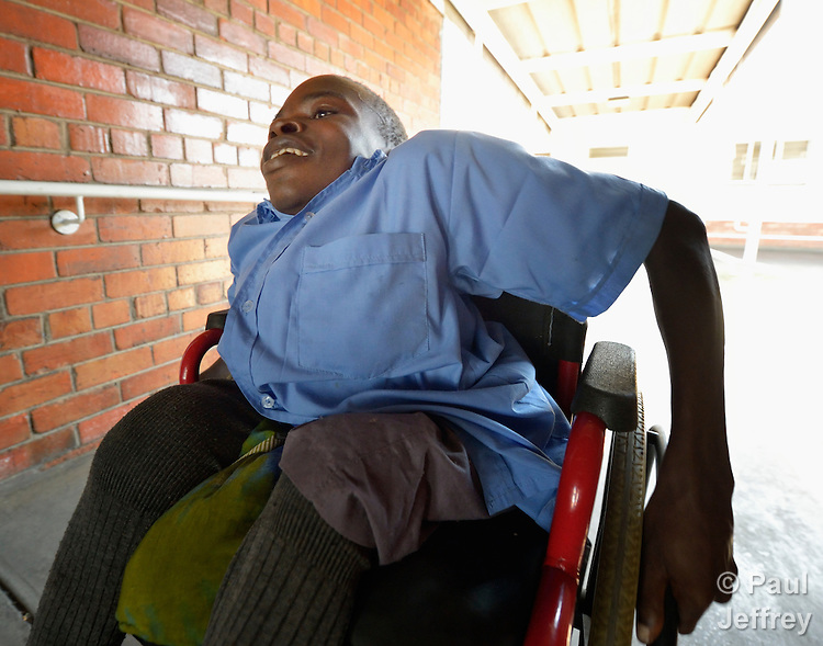 Innocent Chikomo, 17, is a student at the Jairos Jiri School in Harare, Zimbabwe. He uses a wheelchair provided by the Jairos Jiri Association with support from CBM-US.