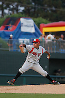 Carolina Mudcats pitcher Andy Otero (6) on the mound during game two of a doubleheader against the Myrtle Beach Pelicans at Ticketreturn.com Field at Pelicans Ballpark on June 6, 2015 in Myrtle Beach, South Carolina. Carolina defeated Myrtle Beach 4-2. (Robert Gurganus/Four Seam Images)