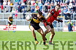 Micheal Burns Dr Crokes takes on Gavin O'Shea Kenmare during their SFC clash in Fitzgerald Stadium on Sunday