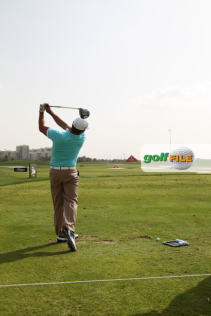 Pablo Larrazabal (ESP) swing sequence during the Abu Dhabi HSBC Championship, in the Abu Dhabi Golf club..(Photo Eoin Clarke/www.golffile.ie)