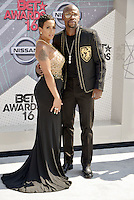 LOS ANGELES, CA - JUNE 26: Floyd Mayweather, Doralie Medina at the 2016 BET Awards at the Microsoft Theater on June 26, 2016 in Los Angeles, California. Credit: Koi Sojer/MediaPunch
