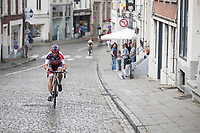 Philipp Walsleben (DEU/Beobank-Corendon) attacking on a cobbled climb<br /> <br /> Dwars door het Hageland (1.1)<br /> 1 Day Race: Aarschot &gt; Diest (194km)