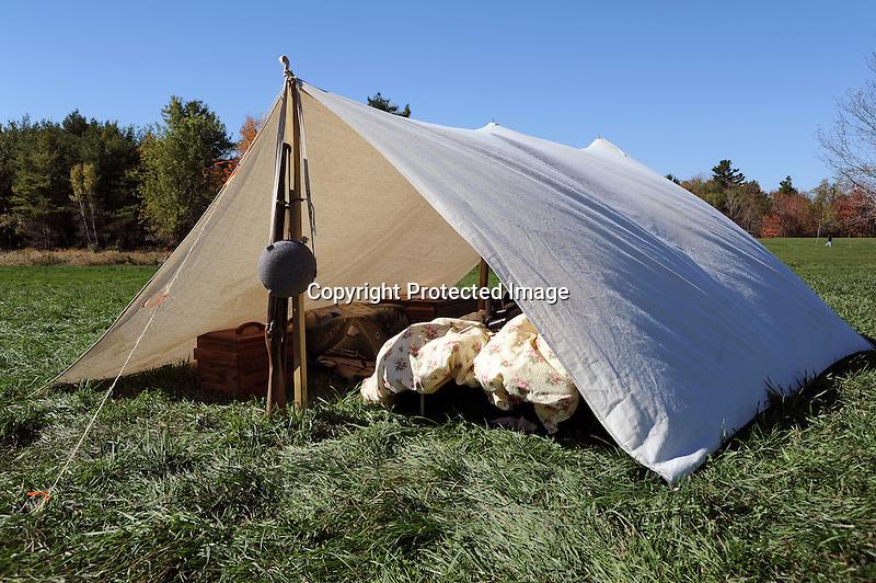Civil War Reenactment Confederate Camp Tent