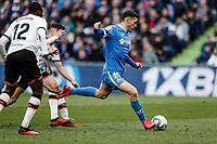 8th February 2020; Coliseum Alfonso Perez, Madrid, Spain; La Liga Football, Club Getafe Club de Futbol versus Valencia; Jorge Molina (Getafe CF)  scores to make it 2-0 in the 67th minute