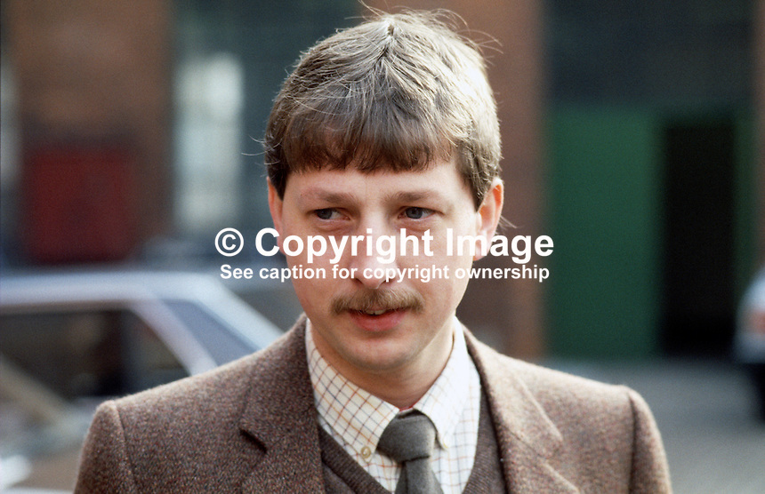 Sammy Wilson, Democratic Unionist councillor, Belfast City Council, N Ireland, 19840034SW..Copyright Image from Victor Patterson, 54 Dorchester Park, Belfast, UK, BT9 6RJ..Tel: +44 28 9066 1296.Mob: +44 7802 353836.Voicemail +44 20 8816 7153.Skype: victorpattersonbelfast.Email: victorpatterson@me.com.Email: victorpatterson@ireland.com (back-up)..IMPORTANT: If you wish to use this image or any other of my images please go to www.victorpatterson.com and click on the Terms & Conditions. Then contact me by email or phone with the reference number(s) of the image(s) concerned.