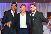 Chris Kamara, Ben Shepard and Ricky Wilson at the evening event of the Graham Wylie Foundation- Have A Heart- golf day with Lee Westwood and Ronan Keating at Close House Golf Club, Heddon on the wall, England on 10 September 2018. Photo by Thomas Gadd.