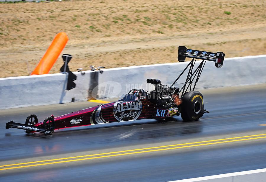 Jul. 30, 2011; Sonoma, CA, USA; NHRA top fuel dragster driver Larry Dixon during qualifying for the Fram Autolite Nationals at Infineon Raceway. Mandatory Credit: Mark J. Rebilas-