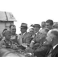President Roosevelt at North Dakota Farm by Arthur Rothstein, 1936