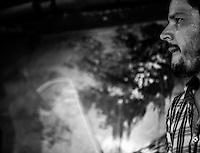 CIUDAD DE MÉXICO, septiembre 18, 2014. El baterista, Rodrigo Barbosa  del grupo de Jazz de Los Dorados durante su concierto en el salón Pata Negra de la Ciudad de México, el 18 de septiembre de 2014. FOTO: ALEJANDRO MELÉNDEZ