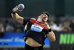 Germany's David Storl puts the shot during the men's shot put on the opening day of the Prefontaine Classic at Hayward Field in Eugene, Oregon, USA, 29 MAY 2015.