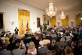 United States President Barack Obama makes remarks during the ceremony in the East Room of the White House in Washington, D.C. where he presented the National Medals of Arts and Humanities on Wednesday, July 10, 2013.<br /> Credit: Ron Sachs / CNP