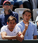 Russia's Maria Sharapova husband and New Jersay NBA player Sasa Vujacic, react  during their quarterfinal match of the French Open tennis tournament, at the Roland Garros stadium in Paris, Wednesday, June 1, 2011. Sharapova won 6-0, 6-3(foto: Srdjan Stevanovic/Starsportphoto ©)