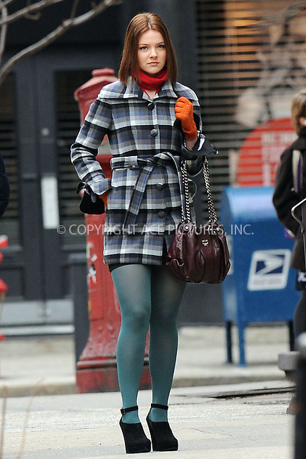 WWW.ACEPIXS.COM . . . . . ....February 2 2010, New York City....Actress Megan Guinan on the Upper East side set of the TV show 'Gossip Girl' on February 2 2010 in New York City....Please byline: KRISTIN CALLAHAN - ACEPIXS.COM.. . . . . . ..Ace Pictures, Inc:  ..tel: (212) 243 8787 or (646) 769 0430..e-mail: info@acepixs.com..web: http://www.acepixs.com