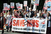 Virendra Sharma, Labour MP for Ealing Southall. Southall march and rally in protest at proposals to close the A&E departments of Ealing and three other north-west London hospitals.
