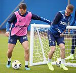 18.09.2019 Rangers training: Matt Polster and Steven Davis