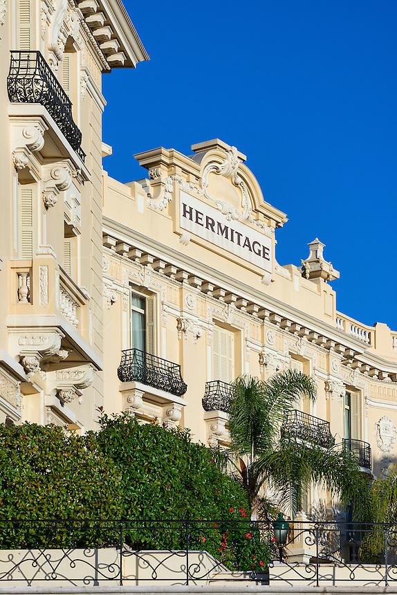 Exterior architecture of the Hôtel Hermitage Monte-Carlo, Monaco
