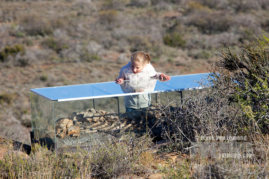 Karoo Fossil Trail, Karoo National Park. South Africa. Outdoor museum.