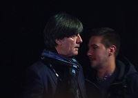 Bundestrainer Joachim Loew (Deutschland Germany) kommt an - 30.11.2019: UEFA EURO2020 Auslosung, Romexpo Bukarest, DISCLAIMER: UEFA regulations prohibit any use of photographs as image sequences and/or quasi-video.