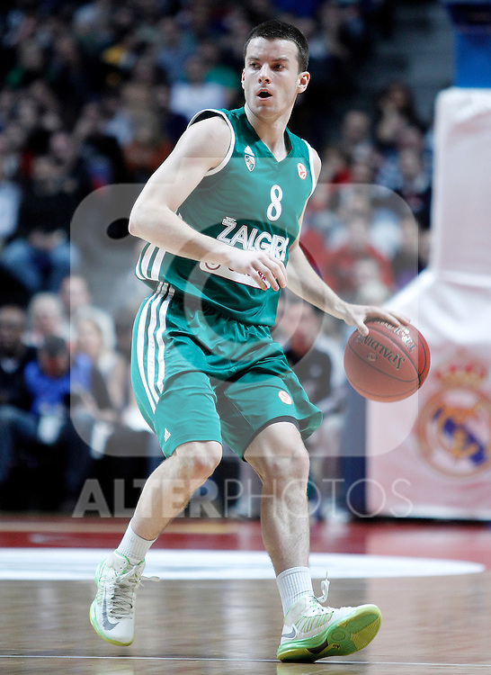 Zalgiris Kaunas' Adas Juskevicius during Euroleague 2012/2013 match.January 11,2013. (ALTERPHOTOS/Acero)