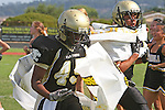 Palos Verdes, CA 09/22/11 - David Odusanya (Peninsula #45) in action during the Beverly Hills-Peninsula Varsitty Football gane.