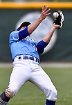 Columbia's Shane Wilhelm bobbles a pop fly. Columbia defeated Highland in the Class 3A Baseball Regional Championship game on  Saturday May 26, 2018. Tim Vizer | Special to STLhighschoolsports.com