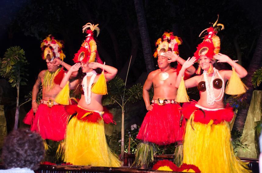 Luau Performance at Westin Resort, Maui, Hawaii, US