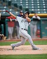 Rafael Ortega (13) of the El Paso Chihuahuas swings against the Salt Lake Bees in Pacific Coast League action at Smith's Ballpark on April 30, 2017 in Salt Lake City, Utah. El Paso defeated Salt Lake 12-3. This was Game 2 of a double-header originally scheduled on April 28, 2017.  (Stephen Smith/Four Seam Images)
