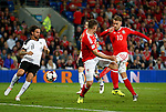 Aaron Ramsey of Wales has his shot blocked during the World Cup Qualifying Group D match at the Cardiff City Stadium, Cardiff. Picture date 2nd September 2017. Picture credit should read: Simon Bellis/Sportimage