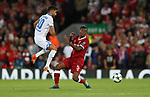 Kerem Demirbay of Hoffenheim and Georginio Wijnaldum of Liverpool during the Champions League playoff round at the Anfield Stadium, Liverpool. Picture date 23rd August 2017. Picture credit should read: Lynne Cameron/Sportimage
