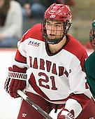 Marshall Everson (Harvard - 21) - The Harvard University Crimson defeated the visiting Clarkson University Golden Knights 3-2 on Harvard's senior night on Saturday, February 25, 2012, at Bright Hockey Center in Cambridge, Massachusetts.