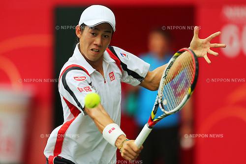Kei Nishikori (JPN), .October 2, 2012 - Tennis : .Rakuten Japan Open 2012, Men's Singles 1st Round .at Ariake Colosseum, Tokyo, Japan. .(Photo by Daiju Kitamura/AFLO SPORT) [1045]