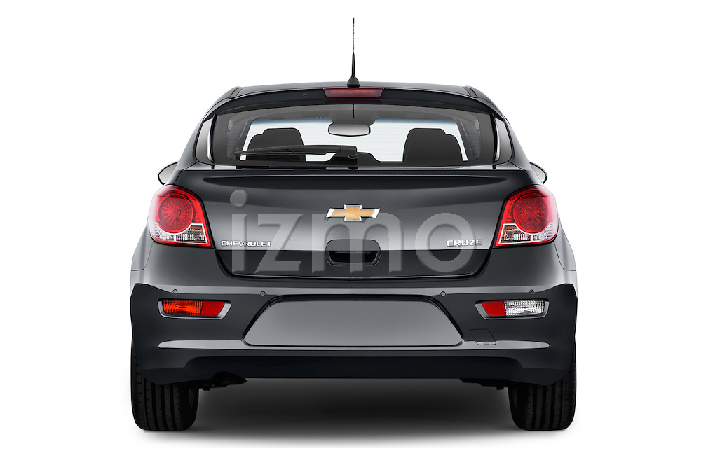 Straight rear view of a 2013 Chevrolet CRUZE LTZ 5 Door Hatchback 2WD