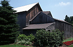 Barn with flowers Connecticut, New England States, six-state region, Connecticut, Massachusetts, Rhode Island, thriving tourist industry, If you don't like the weather, wait ten minutes, Fine Art Photography by Ron Bennett, Fine Art, Fine Art photography, Art Photography, Copyright RonBennettPhotography.com ©