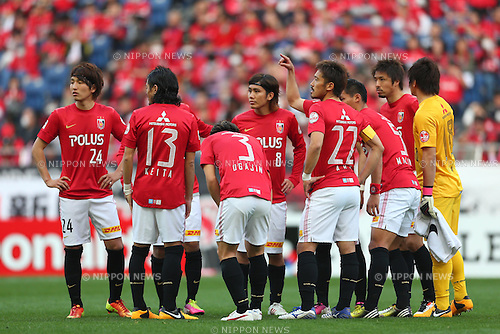 Urawa Reds Team Group (Reds), .March 9, 2013 - Football / Soccer : .2013 J.LEAGUE Division 1, 2nd Sec .match between Urawa Reds 1-0 Nagoya Grampus .at Saitama Stadium 2002, Saitamai, Japan. .(Photo by Daiju Kitamura/AFLO SPORT) [1045]