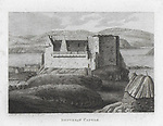 Engravings of Scottish landscapes and buildings from late eighteenth and early nineteenth century, Dunvegan Castle,  Isle of Skye, Scotland, 1790