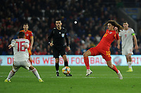Ethan Ampadu of Wales in action during the UEFA Euro 2020 Group E Qualifier match between Wales and Hungary at the Cardiff City Stadium in Cardiff, Wales, UK. Tuesday 19th November 2019