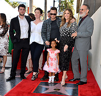 LOS ANGELES, CA. March 29, 2019: Truman Hanks, Elizabeth Ann Hanks, Chet Hanks, Michaiah Hanks, Rita Wilson & Tom Hanks at the Hollywood Walk of Fame Star Ceremony honoring actress Rita Wilson.<br /> Pictures: Paul Smith/Featureflash