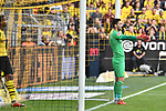 06.10.2018, Signal Iduna Park, Dortmund, GER, DFL, BL, Borussia Dortmund vs FC Augsburg, DFL regulations prohibit any use of photographs as image sequences and/or quasi-video<br /> <br /> im Bild Roman B&uuml;rki / Buerki (#1, Borussia Dortmund) unzufrieden / enttaeuscht / niedergeschlagen / frustriert, nach dem Tor zum 3:3 Torschuetze Michael Gregoritsch (#11, FC Augsburg) <br /> <br /> Foto &copy; nph/Horst Mauelshagen