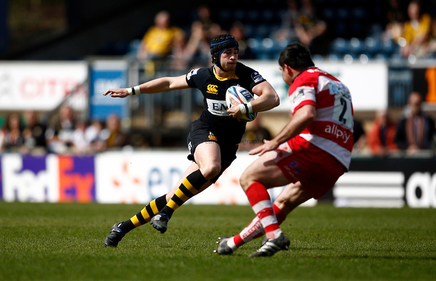 Photo: Richard Lane/Richard Lane Photography. London Wasps v Gloucester Rugby. Amlin Challenge Cup Quarter Final. 11/04/2010. Wasps' Danny Cipriani attacks.