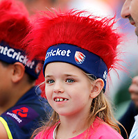 A young Kent fan looks on during the T20 Quarter-Final game between Kent Spitfires and Lancashire Lightning at the St Lawrence ground, Canterbury, on Aug 23, 2018.