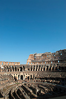 An imposing architectural structure that dominated the landscape of ancient Rome, the Flavian Amphitheater, commonly called the Colosseum, received a major restoration carried out between 1993 and 2000 to counter the effects of pollution and general deterioration over time.