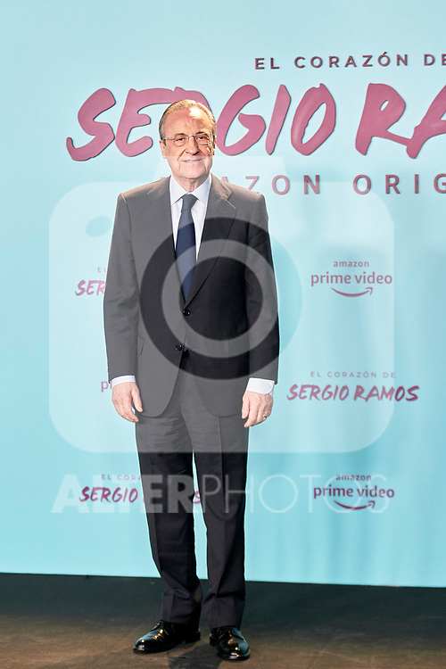 Florentino Perez in the world preview of EL CORAZÓN DE SERGIO RAMOS, documentary series about the life of the captain of Real Madrid and the Spanish Soccer Team, at the Reina Sofía Museum on September 10, 2019 in Madrid, Spain.<br />  (ALTERPHOTOS/Yurena Paniagua)