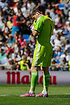 Real Madrid´s goalkeeper Iker Casillas during 2014-15 La Liga match between Real Madrid and Granada at Santiago Bernabeu stadium in Madrid, Spain. April 05, 2015. (ALTERPHOTOS/Luis Fernandez)