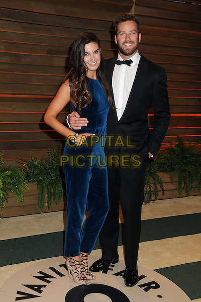 02 March 2014 - West Hollywood, California - Elizabeth Chambers, Armie Hammer. 2014 Vanity Fair Oscar Party following the 86th Academy Awards held at Sunset Plaza.  <br /> CAP/ADM/BP<br /> &copy;Byron Purvis/AdMedia/Capital Pictures