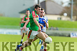 Tommy Begley Kerins O'Rahillys in action against Kevin McCarthy Kilcummin Senior Football Championship Relegation Playoff in Austin Stack Park on Sunday
