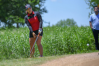 Moriya Jutanugarn (THA) hits from the tall grass adjacent to 1 during round 1 of  the Volunteers of America LPGA Texas Classic, at the Old American Golf Club in The Colony, Texas, USA. 5/5/2018.<br /> Picture: Golffile | Ken Murray<br /> <br /> <br /> All photo usage must carry mandatory copyright credit (&copy; Golffile | Ken Murray)