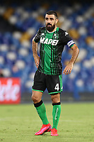 Francesco Magnanelli US Sassuolo<br /> during the Serie A football match between SSC  Napoli and US Sassuolo at stadio San Paolo in Naples ( Italy ), July 25th, 2020. Play resumes behind closed doors following the outbreak of the coronavirus disease. <br /> Photo Cesare Purini / Insidefoto