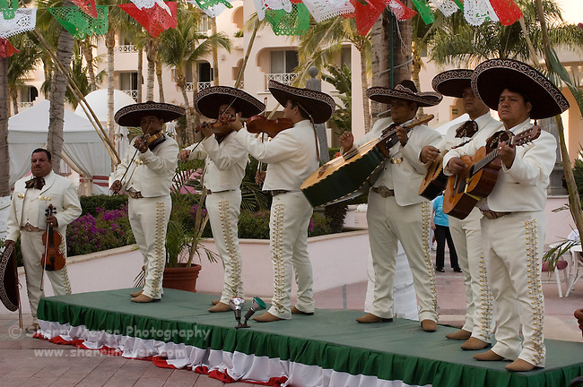 Mariachi band performing at Pueblo Bonito Rose' Resort, Cabo San Lucas, Baja California, Mexico