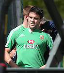 British & Irish Lions training session.Conor Murray has a tracking device fitted to his shirt before taking part in the first Lions training session in Wales..Vale Resort.15.05.13.©Steve Pope